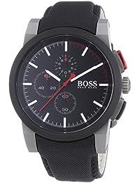 Hugo Boss 1512979 - Reloj con correa de caucho para hombre, color negro / gris