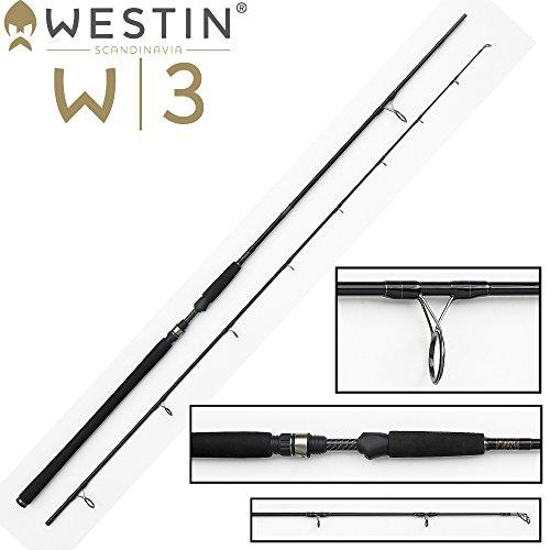 Westin W3 Powercast 278cm XXH 40-130g Spinnrute Spinnrute für Hecht, Zander, Waller, Dorsch, Angelrute zum Zanderangeln & Hechtangeln, 2-teilige Rute, leichte Pilkrute
