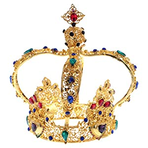 Sharplace Kristall Strass Barock Diadem Tiara Kron Prinzessin Kopfbedeckung Haarschmuck