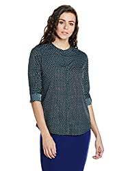 Arrow Womens Button Down Shirt (AWUSH6029_Black_S)