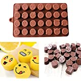 Molde para tartas, Hunpta 1 pieza divertida cara Emoji DIY silicona para tartas, chocolate