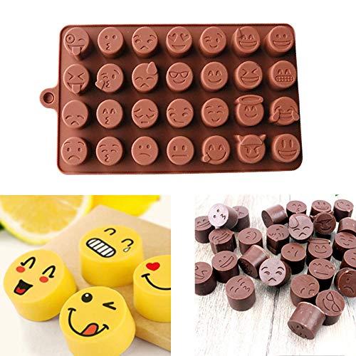 TianranRT Lustig Gesicht DIY Silikon Für Kuchen Schokolade Zucker Süßigkeiten Seife Backen Schimmel