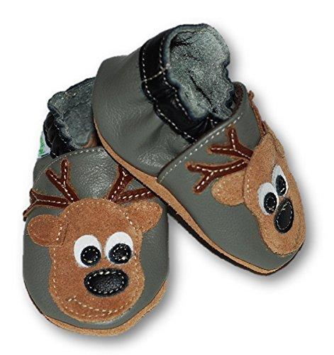Fiorino , Chaussures souple pour bébé (garçon) noir Cowboy Taille S Renne