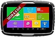 Elebest Navigationsgerät Rider A6+ Navigation für Motorrad und PKW, 5 Zoll Bildschirm Android 6.0 - Bluetooth