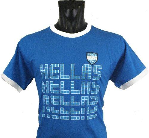 Griechenland Hellas Ringer T-Shirt im Trikot Look Greece EM 2014,(M)