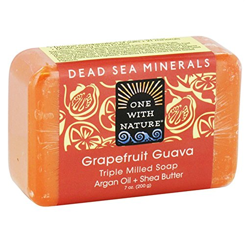 One With Nature Grapefruit Guava Dead Sea Mineral Soap - 7 Ounce, 4 Pack by ONE WITH NATURE