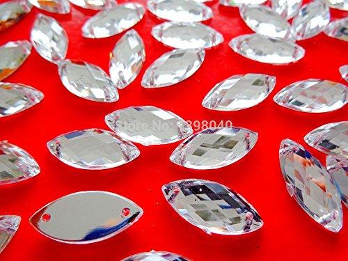 Lose Perlen Drop silber 9x 20mm 100Stck Nhen auf Acryl Kristall Strass Zubehr Edelstein Flatback