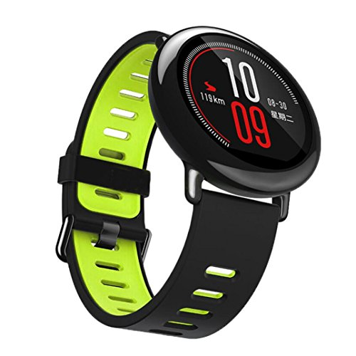 JIANGFU Smart Uhr Silikonband, Mode Sport Silikon Armband Band [für ξ Geheimnis hua Mia schelten ZF IT A1602] (Grün)