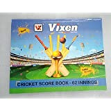 Vixen Cricket Score Sheet Log Book - 62 Innings by R.P.M Sports