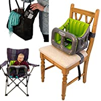 Airtushi - The Fully Collapsible Highchair with Ridged Sides - No More Risk of Sideways Toppling!