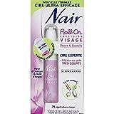 Nair - Roll-On Cire Visage Sourcils Poils Très Courts Toutes Peaux - 15Ml + 20...