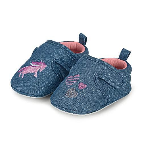Sterntaler Mädchen Baby-Krabbelschuh Flache Hausschuhe, Blau (Marine 300), 19-20 EU