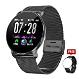 TagoBee TB11 Smartwatch Bluetooth IP68 Pulsera Inteligente Impermeable Reloj Movil HD Touch Screen Fitness Tracker Compatible con Android y iOS para Hombres Mujeres (Negro)