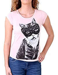 Madonna T-Shirt Damen FIEN Sweet Kitty Rückenteil aus Spitze MF-406989