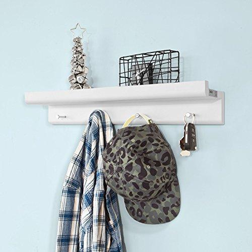 SoBuy® Moderna estantería de pared, perchero de pared, Gancho de pared, FRG65-W, ES