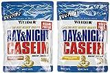 Weider Day und Night Casein Beutel 2er Mix Pack, Schoko-Sahne / Vanille-Sahne, 2 x 500g