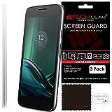 TECHGEAR® [3 Pack] Protection d'Écran pour Moto G4 Play, Film de Protection Ultra Clair avec Chiffon de Nettoyage et Carte d'Application Compatible pour Motorola Moto G4 Play (XT1607)