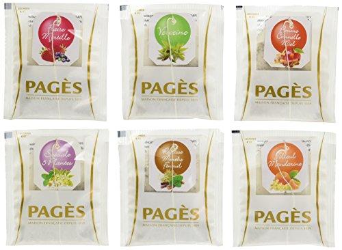 Pagès Coffret en bois d'infusions Bio 60 sachets