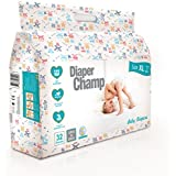 Diaper Champ Baby Diapers, Extra Large Size, 12 To 25kg, Chlorine & Paraben Free (32 Count)
