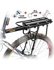 West Biking Porte-bagages arrière capacité de charge 50kg pour vélo de sport avec système de freins à disque ou de type V-Brake