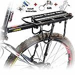 Bike Cargo Rack,WEST BIKING Load 50Kg Bike Cycling Sport Rear Carrier Rack Seat for Disc Brake/V-brake System Bicycle Cargo Shelf