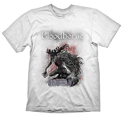 Price comparison product image Meroncourt Men's Bloodborne Boss Fight Short Sleeve T-Shirt, White, Medium (Manufacturer Size:M)