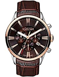 Roamer Men's Quartz Watch with Brown Dial Chronograph Display and Brown Leather Strap 508837 41 65 05