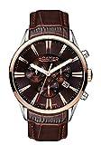 Roamer 508837 SRGL1 - Reloj cronógrafo de cuarzo para hombre con correa de piel, color negro