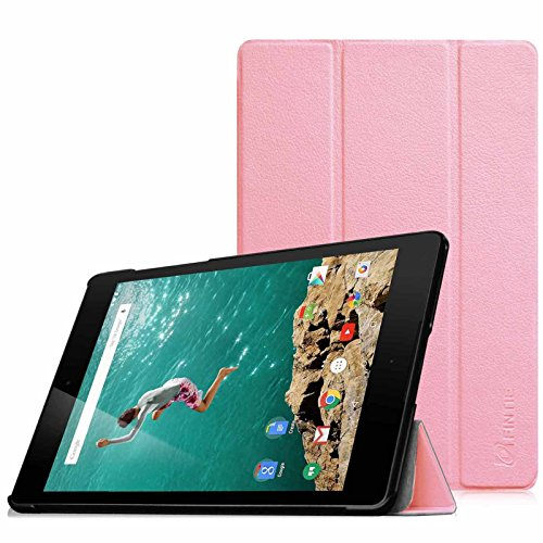 HTC Nexus 9 Hülle Case - Fintie [SlimShell Series] Ultradünne Lightweight Schutzhülle Tasche Cover mit Standfunktion und Auto Sleep / Wake Funktion für HTC Nexus 9 (8,9 Zoll) Tablet-PC by Google, Pink