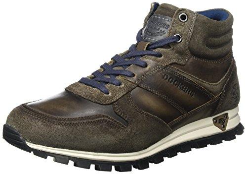 Dockers by Gerli 41jf005-182220, Sneaker a Collo Alto Uomo Grigio (Dunkelgrau)