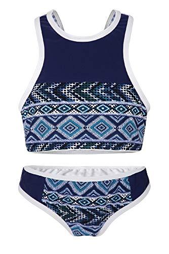 Denim Bikini (La-V Mädchen Bikini Zweiteilig Sport Navy-Jeans/Größe 128/134)