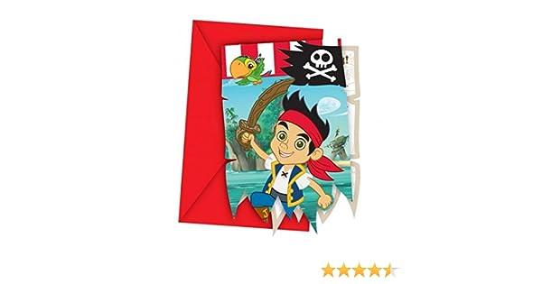 Captain Jake Gestanzte Yoho Einladungskarten Mit Umschlag: Amazon.de:  Spielzeug