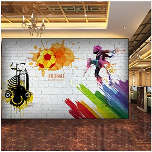 FSLUCKY Benutzerdefinierte 3D Wallpaper City Graffiti Fußball Basketball Große Wandbilder Bar Restaurant Wohnzimmer Dekor Vliestapetenrolle-G