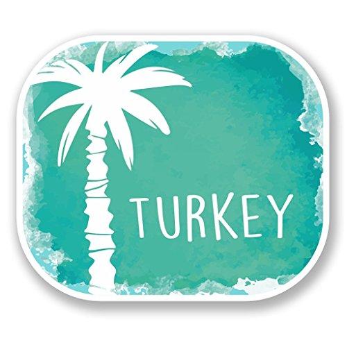 Preisvergleich Produktbild 2x Türkei türkisch Vinyl Aufkleber Aufkleber Laptop Reise Gepäck Auto Ipad Schild Fun # 6484 - 10cm/100mm Wide