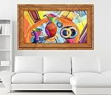 3D Wandtattoo Malerei modern abstrakt Kunst Kaffee Coffee selbstklebend Wandbild Tattoo Wohnzimmer Wand Aufkleber 11M883, Wandbild Größe F:ca. 140cmx82cm