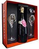 Gosset Grand Reserve Rose Champagne Gift Box with 2 Flutes and Champagne Stopper NV 75 cl