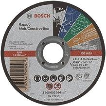 Bosch 2 608 602 384  - Disco de corte recto Rapido Multi Construction - ACS 60 V BF, 115 mm, 1,0 mm (pack de 1)