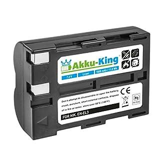 Akku-King Battery compatible with Nikon EN-EL3, EN-EL3a - Li-Ion 1600mAh