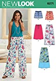 """Simplicity 6271 Size A 10/12/14/16/18/20/22 """"Misses' Skirt in Three Lengths and Pants or Shorts"""" New Look Sewing Pattern"""