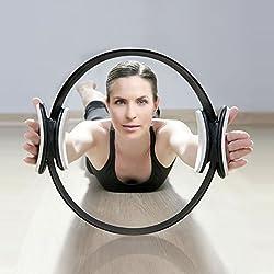 Aro de Pilates Elite Para Resistencia y Fortalecimiento Muscular PhysioRoom - Anillo Fitness de Gimnasia Yoga con Agarraderas Acolchadas