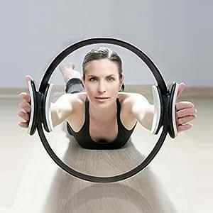PHYSIOROOM - Anneau de Résistance avec Double Poignées - Accessoire Fitness Pilates Musculation - Ring Cercle pour les Exercices de Renforcement Musculaire et de Rééducation