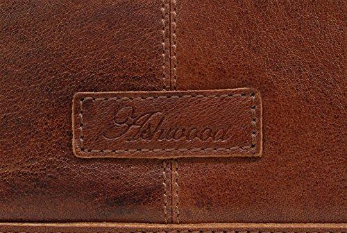 Umhängetasche Leder von Ashwood - Kindle/A5 - 8341 - GRÖßE: B: 19.5 cm; H: 23 cm, T: 5 cm Hellbraun