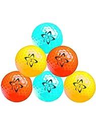 Longridge Atomic Hi Vis Neon Lot de 6 balles de golf