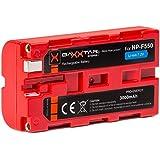 """BAXXTAR PRO ENERGY Batterie de qualité pour Sony NP-F550 (3000mAh) avec Info Chip - Système de batterie intelligent """"prochaine génération"""""""