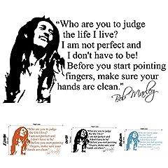 Idea Regalo - Bob Marley-Sticker mural décoratif pour salon ou chambre X Taille L)