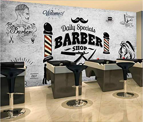 Retro-moderne-tapete (Keshj Retro Friseursalon Hintergrund Wallpaper Wandbild Für Friseur Barber Shop Hintergrund Wand Dekor Moderne Tapeten 3D-200Cmx140Cm)