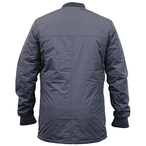 Herren Lang MA1 Jacke Threadbare Harrington Mac Trench Gefütterte Jacke Winter Neu Marineblau - DMV132PKA