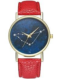 Zxzays Correa de Cuero de la Manera Diamante Mujeres Relojes de Cuarzo  Vestido de señoras Wristatches 86a2e0236fdc