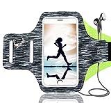 Schweißfest Sport Armband Fitness Universell Handyhülle, Running Armband mit Schlüsselhalter,Kabelfach,Kartenhalter, für iPhone 8/7/6/6S/5/SE,Galaxy S6/S7 (Geeignet für 4-6Zoll)