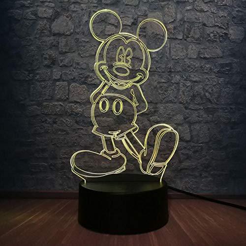 y Mouse 3D LED Lampe 7 Farbwechsel Schlafzimmer Tisch Nachtlicht Atmosphäre Dekorative Geburtstagsgeschenk leuchte ()